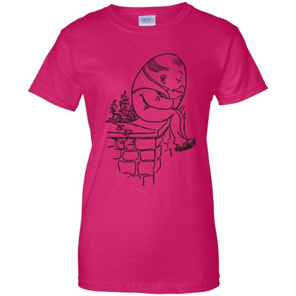 humpty dumpty womens t shirt - lady t shirt - pink heliconia