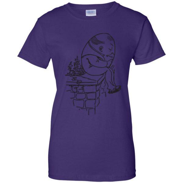 humpty dumpty womens t shirt - lady t shirt - purple