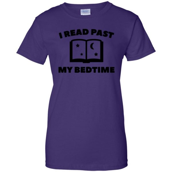 i read past my bedtime womens t shirt - lady t shirt - purple