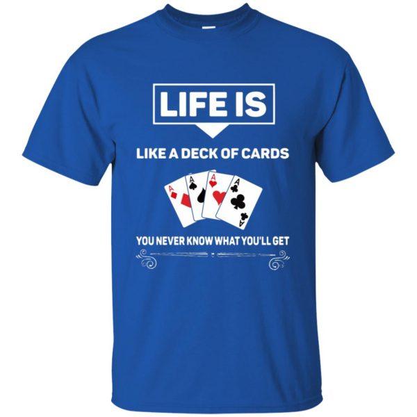 funny poker t shirt - royal blue