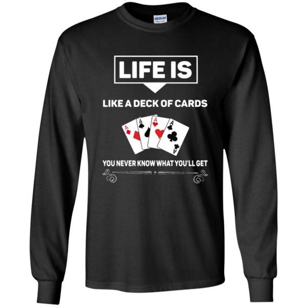 funny poker long sleeve - black
