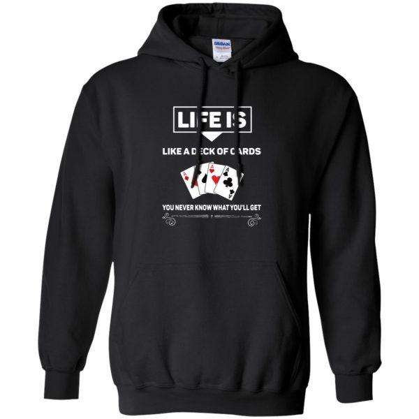 funny poker hoodie - black