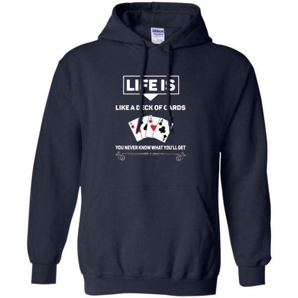 funny poker hoodie - navy blue