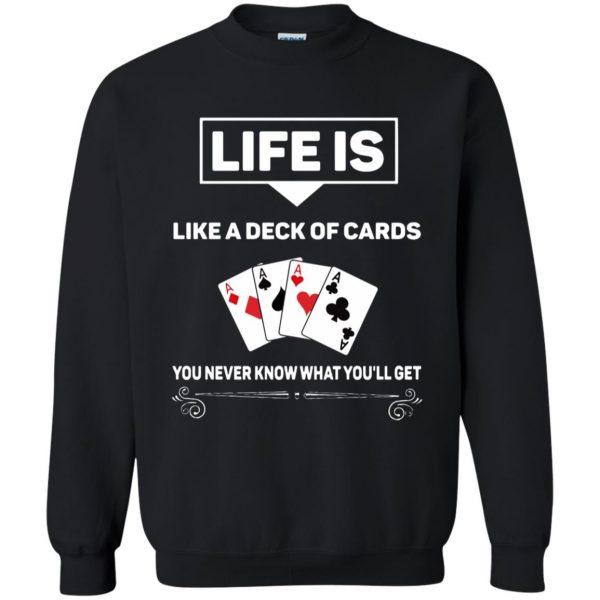 funny poker sweatshirt - black
