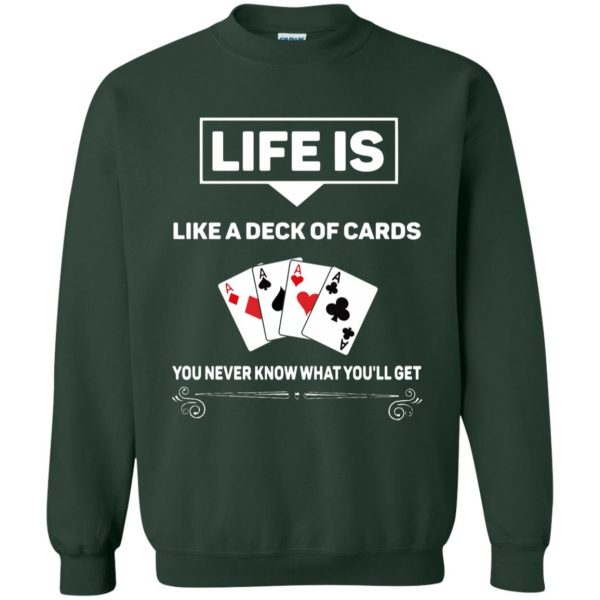 funny poker sweatshirt - forest green