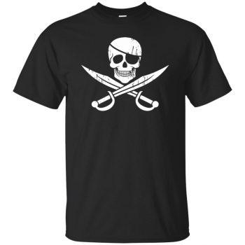 pirate flag shirts - black