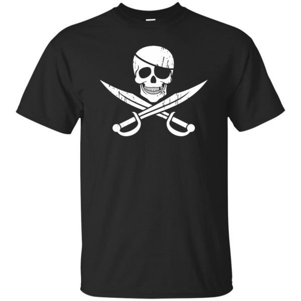pirate flag shirts - black