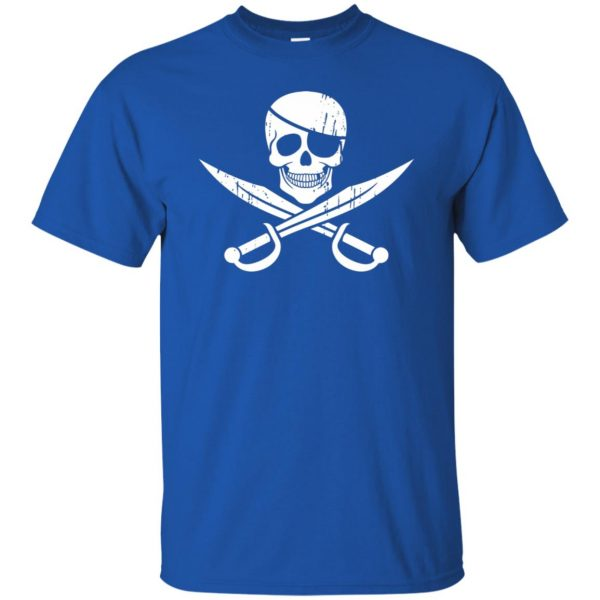 pirate flag t shirt - royal blue
