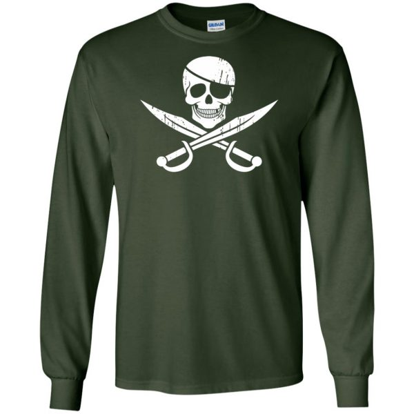 pirate flag long sleeve - forest green