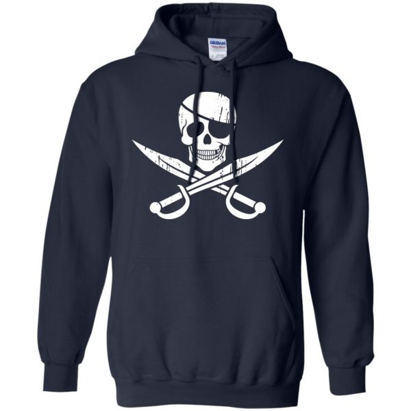 pirate flag hoodie - navy blue