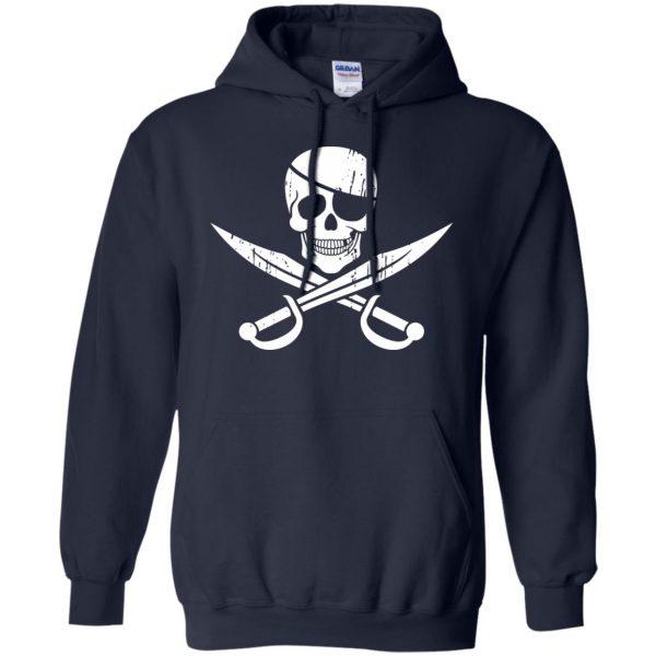 pirate flag hoodie - navy blue