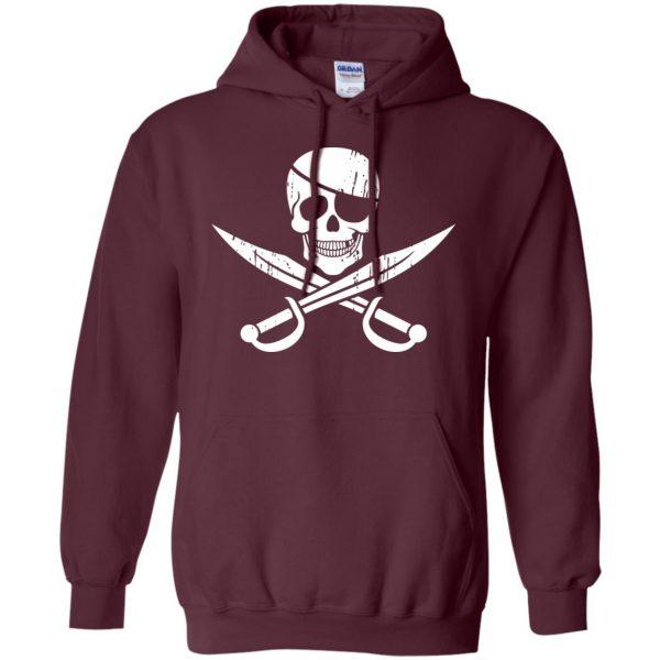 pirate flag hoodie - maroon