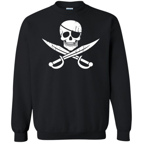 pirate flag sweatshirt - black
