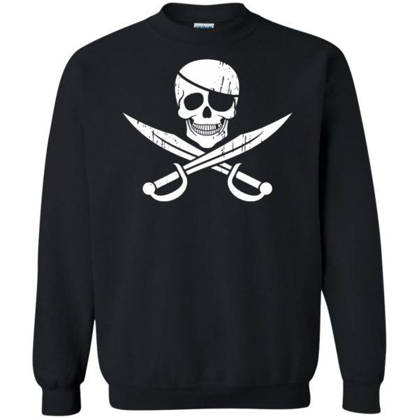 pirate flag sweatshirt - black