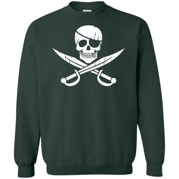pirate flag sweatshirt - forest green