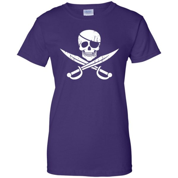 pirate flag womens t shirt - lady t shirt - purple
