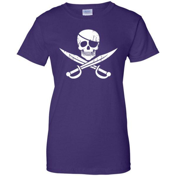 pirate flag womens t shirt - lady t shirt - purple