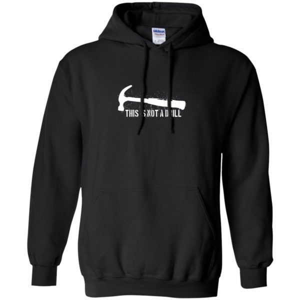 this is not a drill hoodie - black
