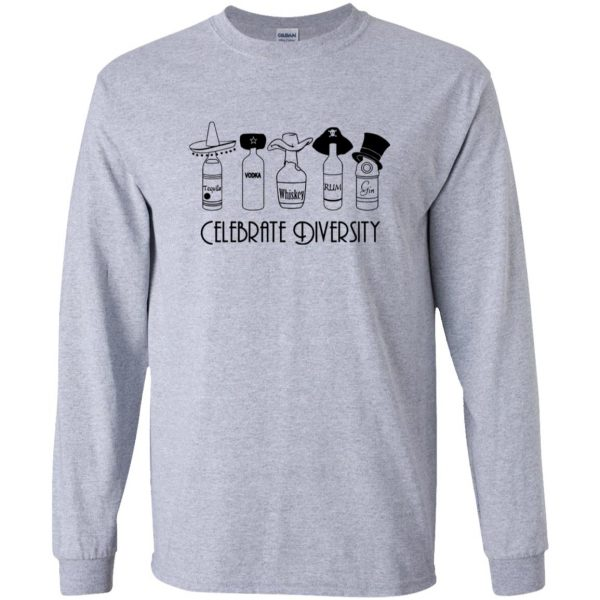 celebrate diversity long sleeve - sport grey