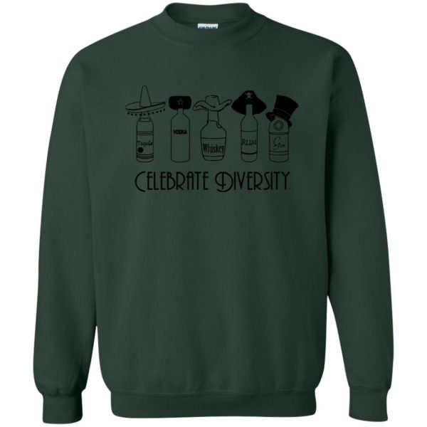celebrate diversity sweatshirt - forest green