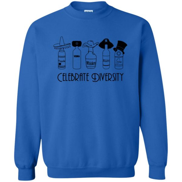 celebrate diversity sweatshirt - royal blue