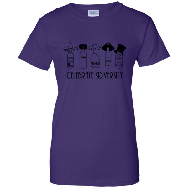 celebrate diversity womens t shirt - lady t shirt - purple