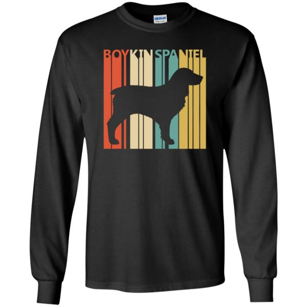 boykin spaniel long sleeve - black