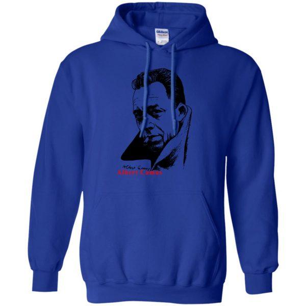 albert camus hoodie - royal blue