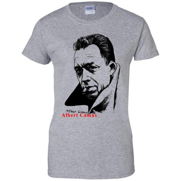 albert camus womens t shirt - lady t shirt - sport grey