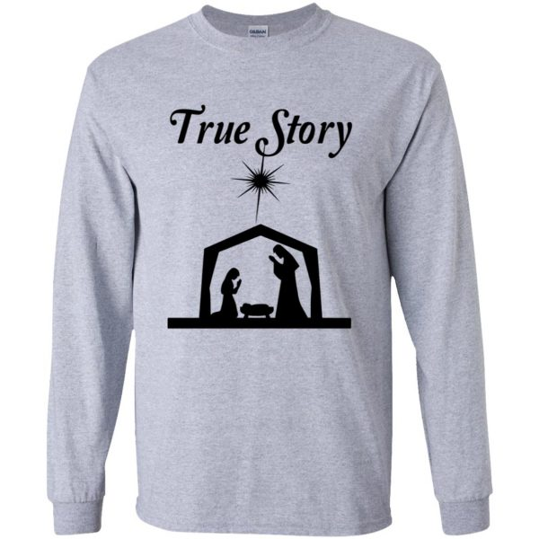 true story long sleeve - sport grey