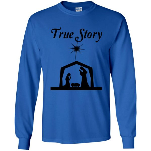 true story long sleeve - royal blue