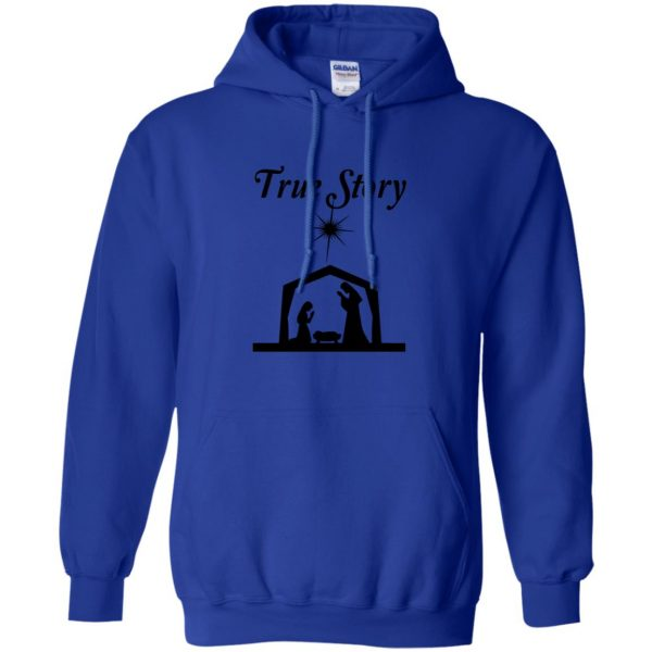 true story hoodie - royal blue