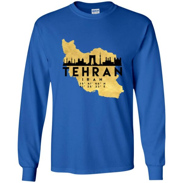 tehran long sleeve - royal blue