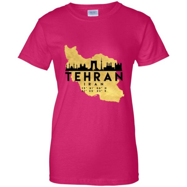 tehran womens t shirt - lady t shirt - pink heliconia
