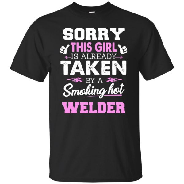 welder wife shirt - black