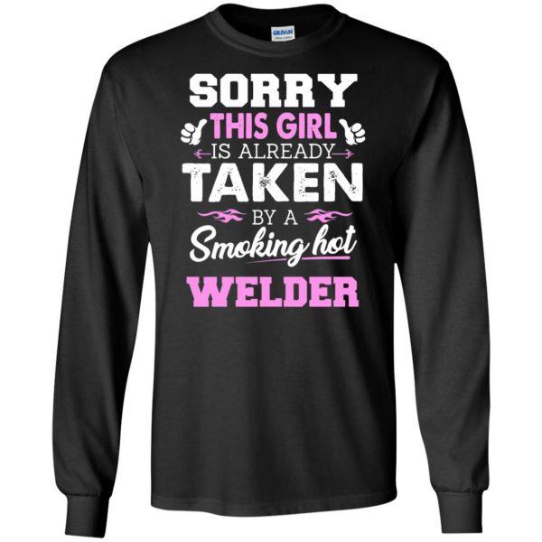 welder wife long sleeve - black