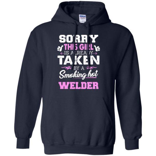 welder wife hoodie - navy blue