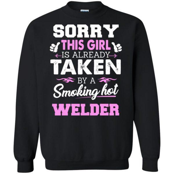 welder wife sweatshirt - black