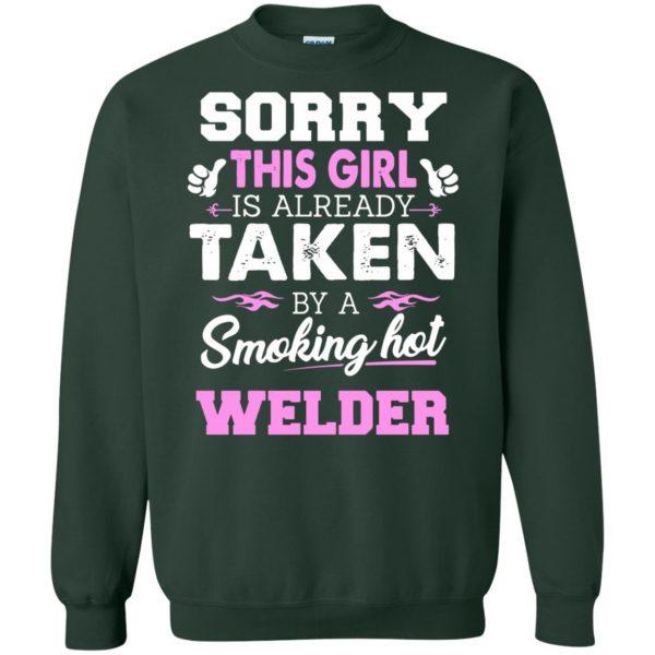 welder wife sweatshirt - forest green