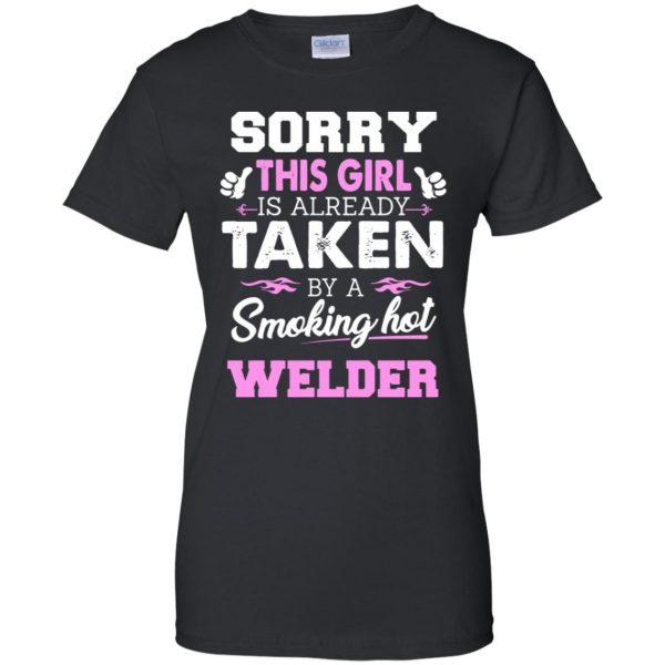welder wife womens t shirt - lady t shirt - black