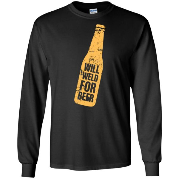 Will Weld For Beer long sleeve - black