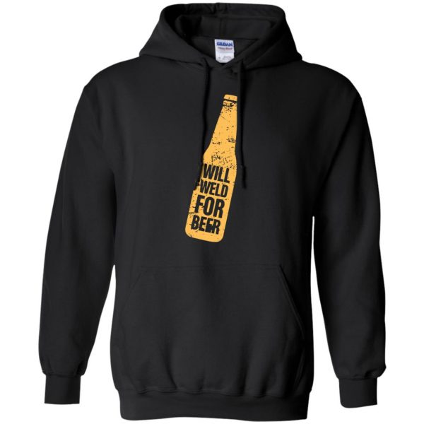 Will Weld For Beer hoodie - black