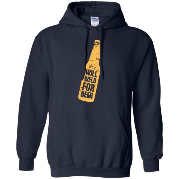Will Weld For Beer hoodie - navy blue