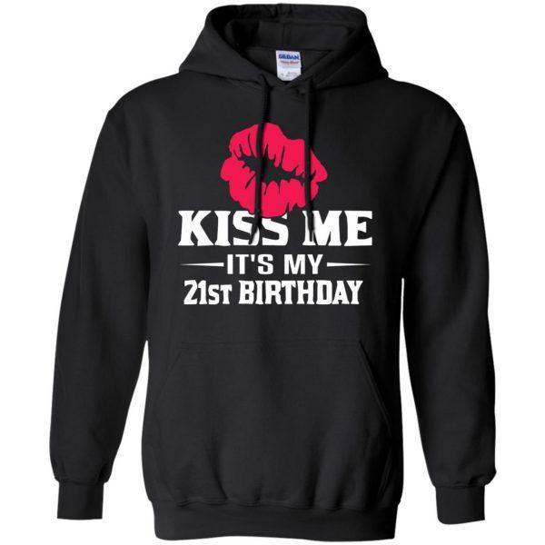 funny 21st birthday hoodie - black