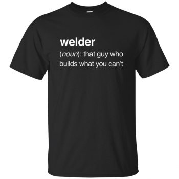 Funny Welder Definition T-shirt - black