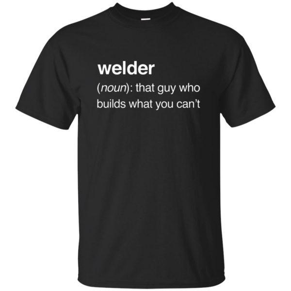 Funny Welder Definition T-shirt - black