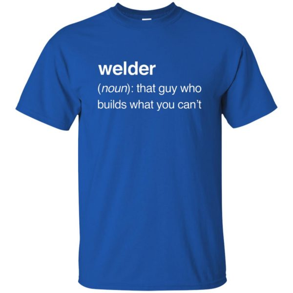 Funny Welder Definition t shirt - royal blue