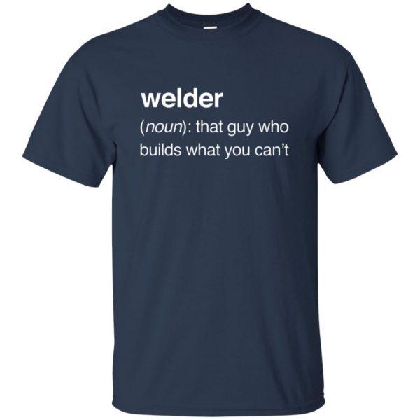 Funny Welder Definition t shirt - navy blue