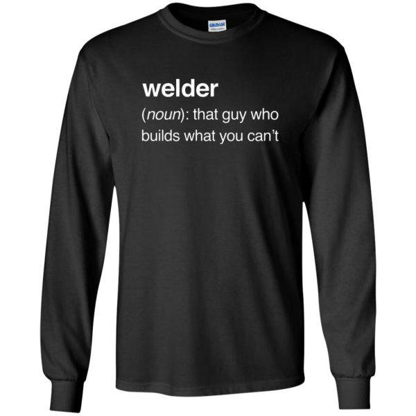 Funny Welder Definition long sleeve - black