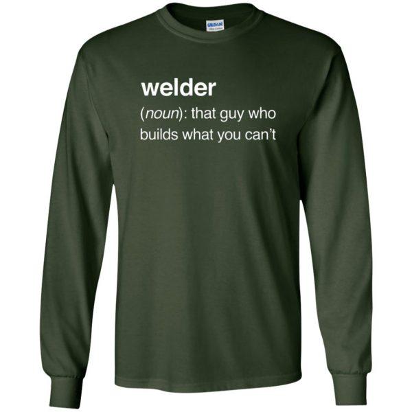 Funny Welder Definition long sleeve - forest green